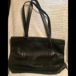 Vintage Coach leather tote bag 0424-121